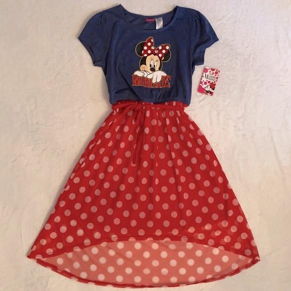 {NWT} Disney Minnie Mouse Maxi Dress